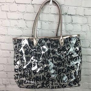 Victoria Secret Clear Plastic Tote carryall bag